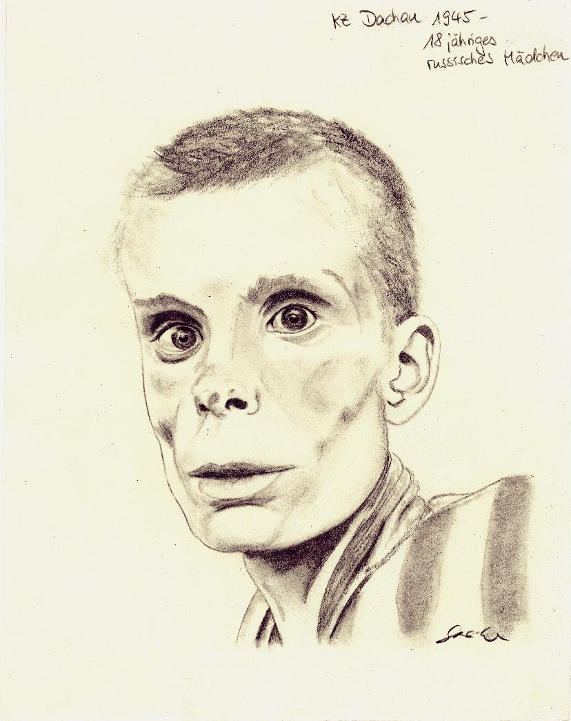KZ Dachau ein jähriges russisches Mädchen Bild Peggy Steike