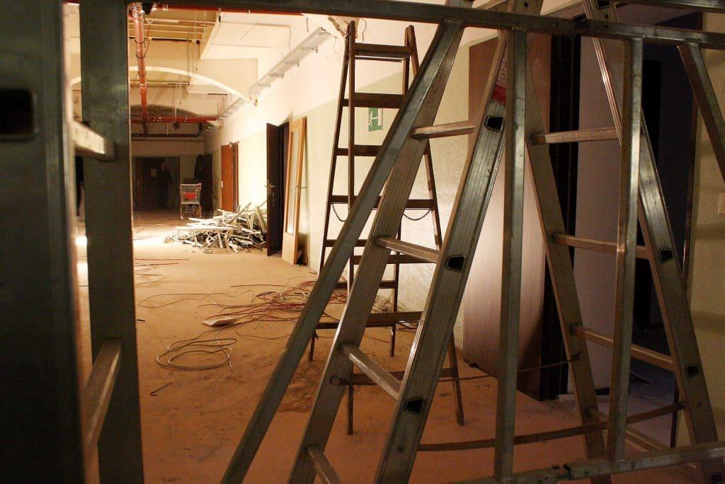 Casino Umbau Flüchtlinge Baustelle